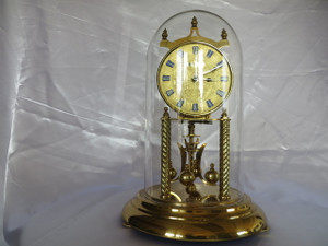 """Welby"" Standard Gold Dial Clock"