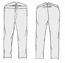 GRSP-105 boy's trousers pattern
