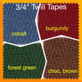 Current colors of twill tape available