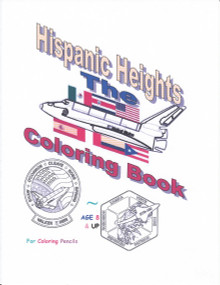 Five select space shuttle mission insignia coloring pages of the 25 flights of Hispanic astronauts with an upper right corner color guide insignia. Ideal for S.T.E.M. educator classroom breaks!