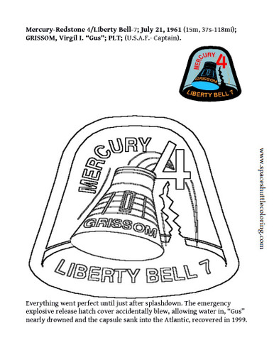 "This is America's second man up mission insignia coloring page. Place cursor over the large image and right click ""Save image as.."" for free or add it to your shopping cart along with your purchase(s)."