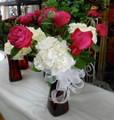 Vase Hydrangea And Peonies