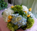Blue White Yellow Centerpiece