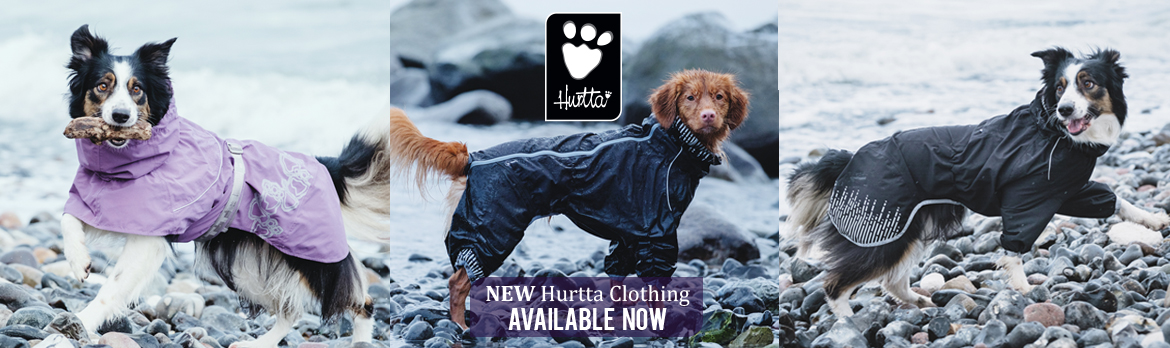 New from Hurtta. Downpour Suit, Drizzle Coat and Rain Blocker. Available in the UK form K9active