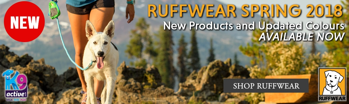 New Spring 2018 Products and updated colours from Ruffwear