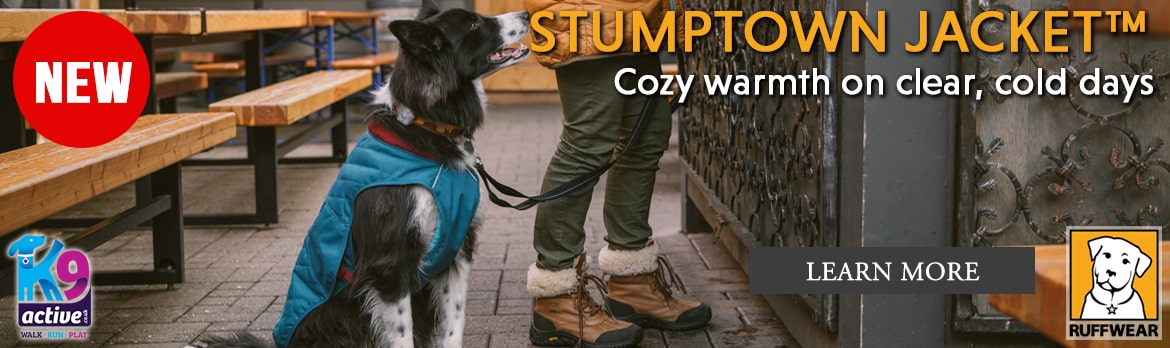 NEW Ruffwear Stumptown Jacket. Abrasion Resistant Insulated dog coat for cold and clear days.