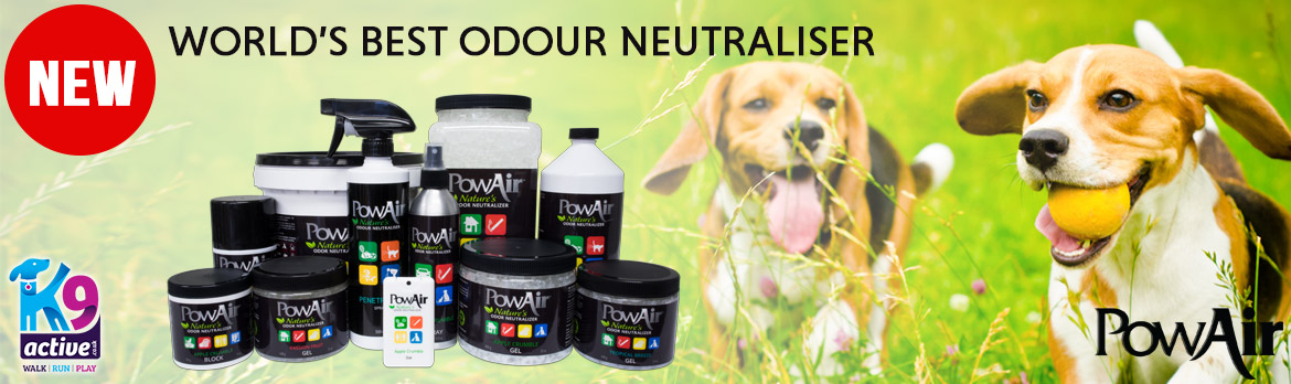 PowAir Odour Neutraliser. Banish doggie smells in your Car and Home.