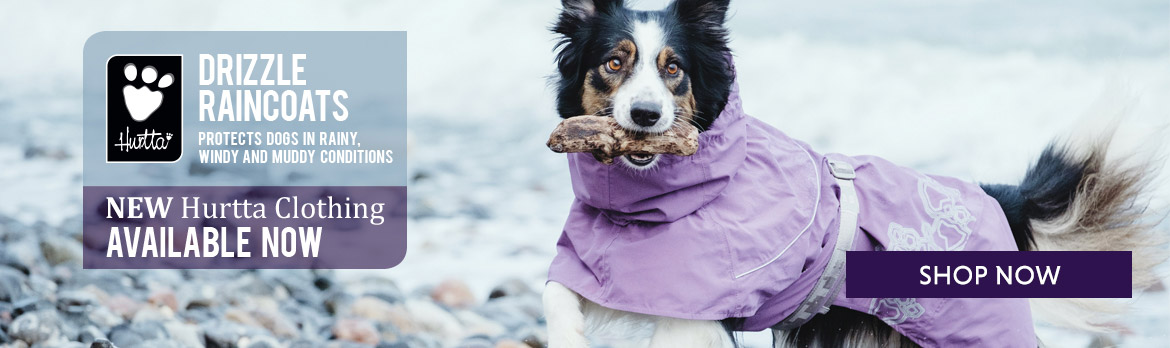 Hurtta Drizzle Raincoat for dogs at K9active