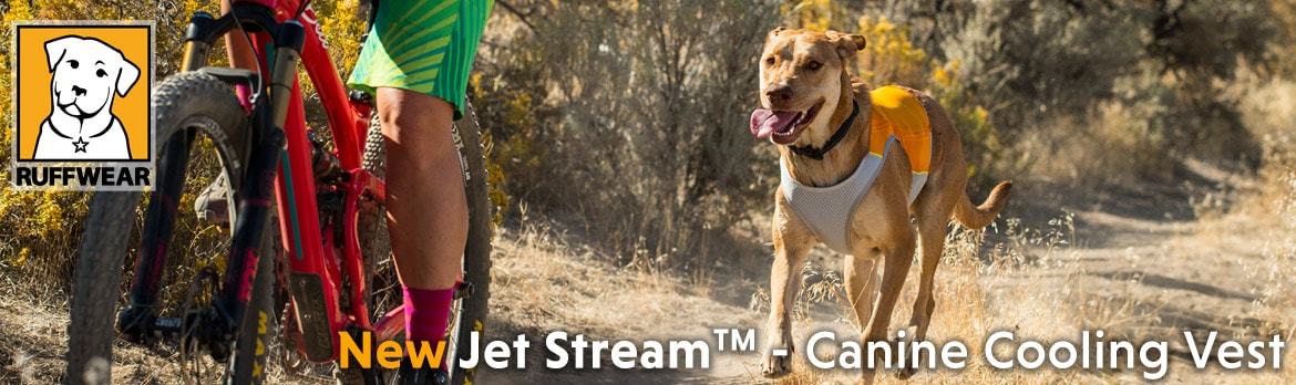 New Ruffwear Jet Stream Cooling vest for dogs