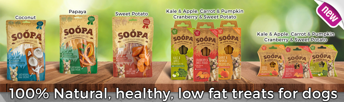 Soopa Natural Vegatable Treats for dogs. Low in Fat Hypoalergenic