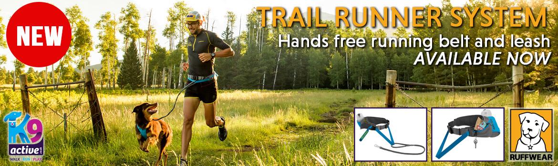 Ruffwear Trail Runner System. Perfect Canicross running belt and line.