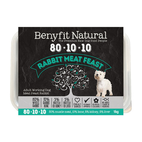 Benyfit Natural 80:10:10 Rabbit Meat Feast RAW dog food