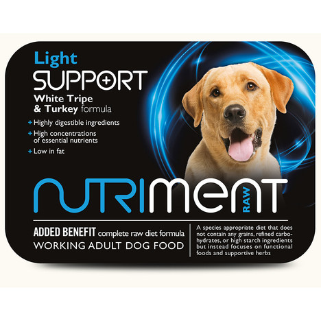 Nutriment Light Support RAW Dog Food at K9active. RAW Dog food supplier in Edinburgh, Fife, Glenrothes, Dunfermline, Kirkclady