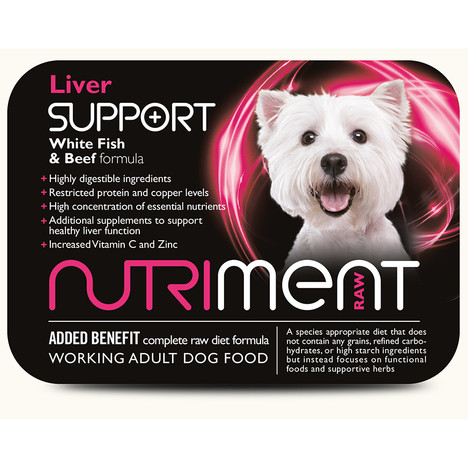 Nutriment Liver Support RAW Dog Food at K9active Dunfermline