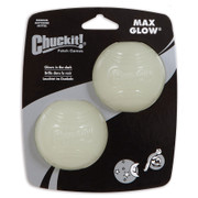 Chuckit Max Glow Balls. Pack of 2 Medium Size Ball.
