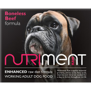 Nutriment Boneless Beef Formula. RAW Dog Food Delivery in Edinburgh, Stirling, Dunfermline, Glenrothes, Kirkcaldy, Fife