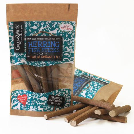 Green & Wilds Herring Fish Sticks Dog treats