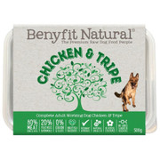 Benyfit Natural Complete RAW Dog Food. Chicken and Tripe