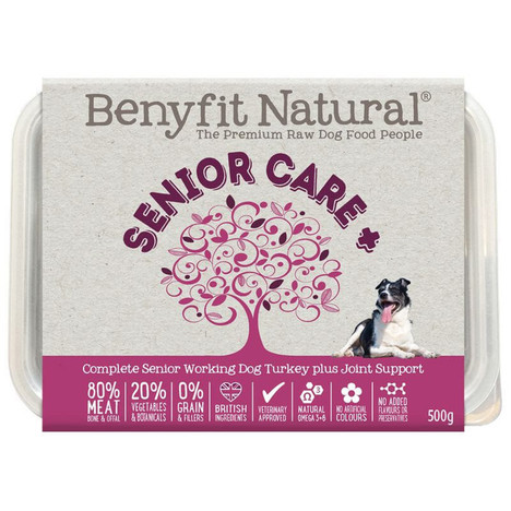 Benyfit Natural Senior Care Turkey Premium RAW Dog Food