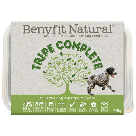 Benyfit Natural Premium RAW Tripe Complete Dog Food