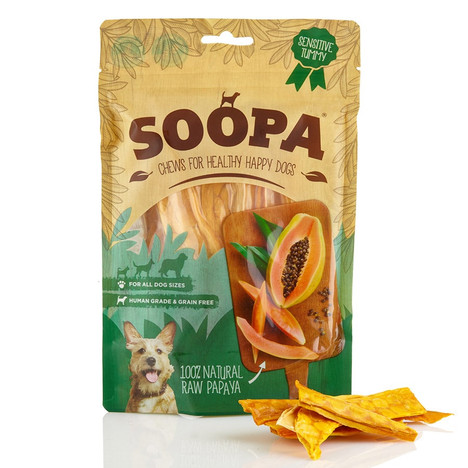 Soopa Papaya 100% Natural RAW Baked dog Treats
