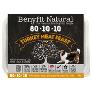 Benyfit Natural RAW 80:10:10 Turkey Meat Feast dog food