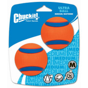 Chuckit Ultra ball 2 pack size medium 6.5cm