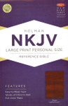 NKJV Large Print Personal Size Reference Bible LeatherTouch Brown