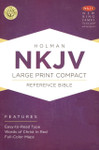 NKJV Large Print Compact Reference Bible Leather Touch Charcoal