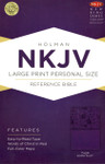 NKJV Large Print Personal Size Reference Bible Imitation Leather Purple