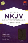 NKJV Large Print Personal Size Reference Bible LeatherTouch Charcoal