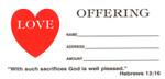 Love Offering Envelope Bill Size