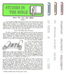 Studies In The Bible Correspondence Course 30 Lesson Set