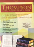KJV Thompson Chain Reference Bible Bonded Leather Burgundy Indexed
