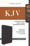 KJV Personal Size Giant Print Reference Bible Genuine Leather Black