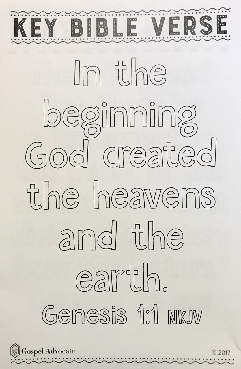 Heritage Of Faith Fall Primary Key Bible Verse Take-Home