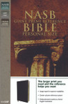 NASB Side Column Reference Bible Wide Margin Calfskin Black