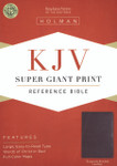 KJV Super Giant Print Reference Bible Bonded Leather Burgundy