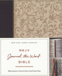 NKJV Journal the Word Bible Imitation Leather Brown/Cream