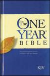 KJV One Year Bible Paperback Black Letter