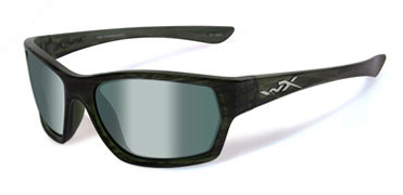 Wiley X Moxy, Olive Strip Frame, Polarized Green Platinum Flash Lens