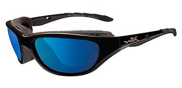 Wiley X Airrage, Polarized Blue Mirror Lens, Gloss Black Frame