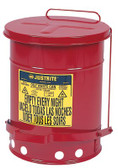 JUSTRITE Red Oily Waste Cans (400-09100)