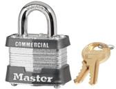 MASTER LOCK No. 3 Laminated Steel Pin Tumbler Padlocks (470-3DCOM)