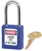 No. 410 & 411 Lightweight Xenoy Safety Lockout Padlocks (470-410BLU)