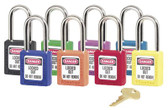 No. 410 & 411 Lightweight Xenoy Safety Lockout Padlocks (470-410RED)