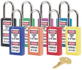 No. 410 & 411 Lightweight Xenoy Safety Lockout Padlocks (470-411RED)