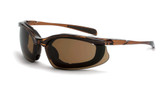 * CrossFire Concept HD brown anti-fog lens, black frame, foam lined (CF-867AF)