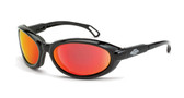 * CrossFire Raptor foam lined, red mirror lens, shiny black frame (CF-1169AF)