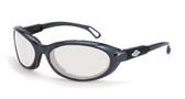 * CrossFire Raptor reader, 2.5 diopter, clear lens, shiny pearl gray frame, foam lined (CF-116425)